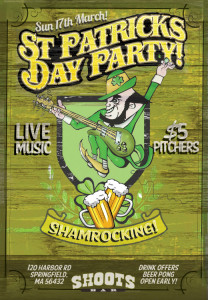 St Paddys Day flyer ben fellowes